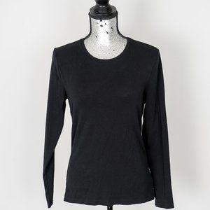 Lauren Ralph Lauren black fitted T top - Large
